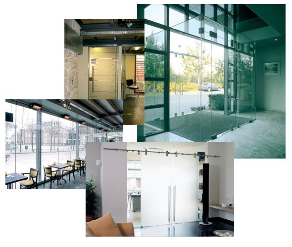 L p e vitrage vitrerie habitat abbeville porte coulissante - Porte coulissante en verre transparent ...
