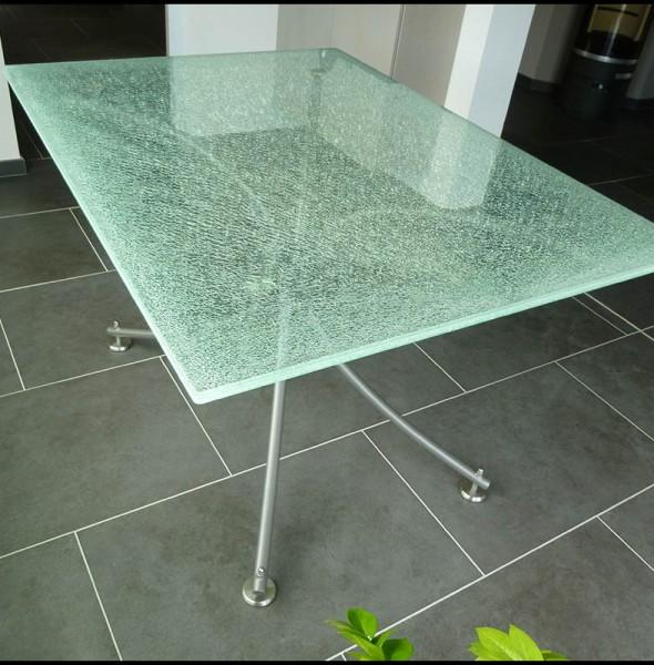 L p e vitrage vitrerie habitat abbeville verre biseaut - Plaque de verre sur mesure pour table ...
